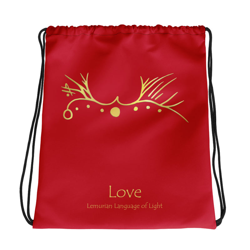 Lemurian Light Language Love - Drawstring Bag - StarSeed Gear