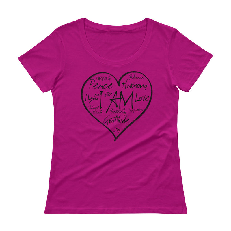 I AM Heart - Women's Scoop Neck Tee - StarSeed Gear