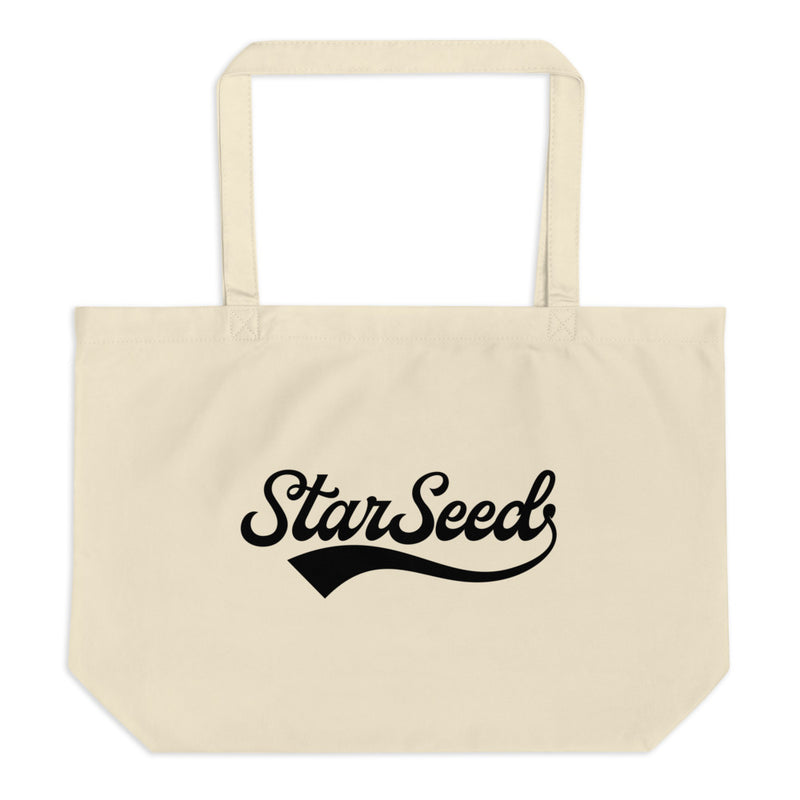StarSeed Vintage Black - Large Organic Twill Tote Bag - StarSeed Gear