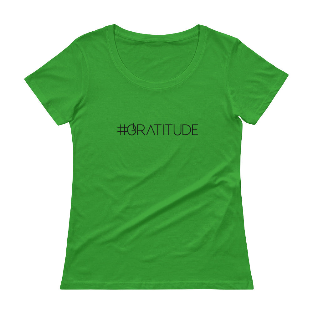 Hashtag Gratitude - Women's Scoop Neck Tee - StarSeed Gear