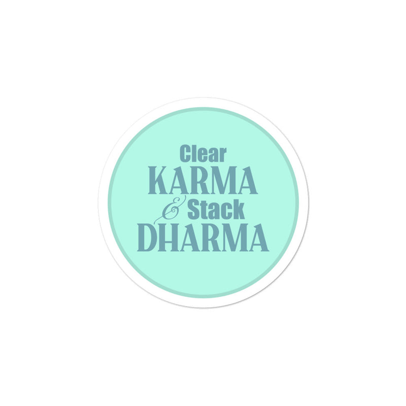 Clear Karma Stack Dharma - 3x3 and 5.5x5.5inch Bubble-Free Sticker - StarSeed Gear