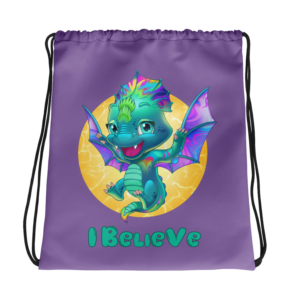 Dragons I Believe - Drawstring Bag - StarSeed Gear