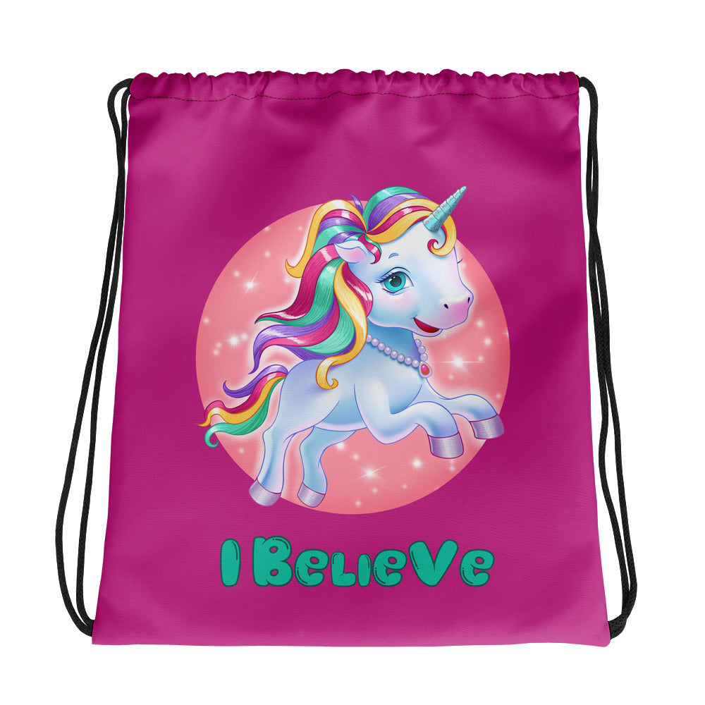 Unicorns I Believe - Drawstring Bag - StarSeed Gear