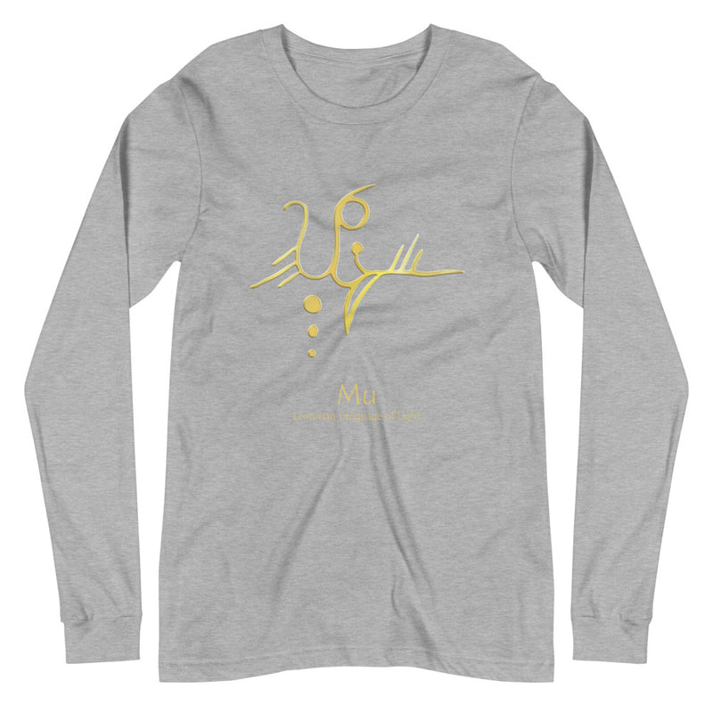 Lemurian Light Language Mu - Women's Soft Long Sleeve Tee - StarSeed Gear