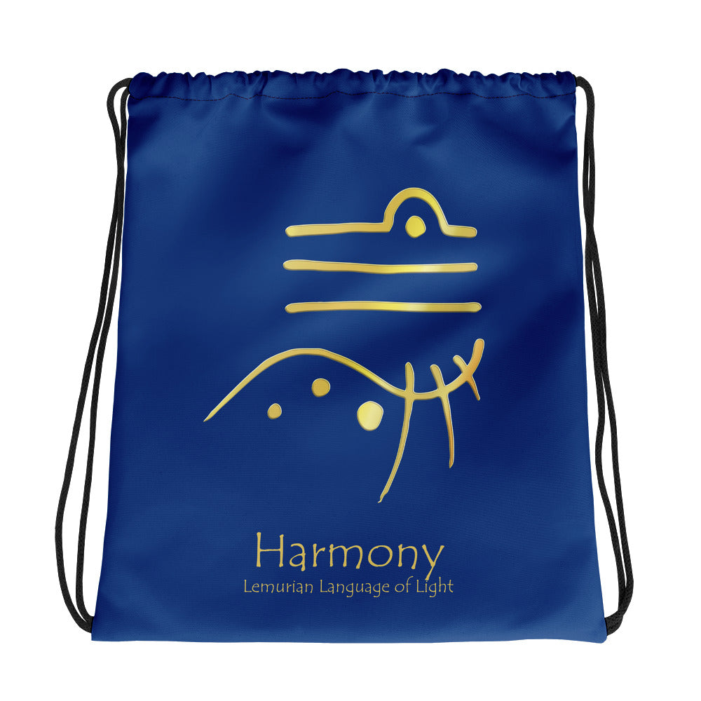 Lemurian Light Language Harmony - Drawstring Bag - StarSeed Gear