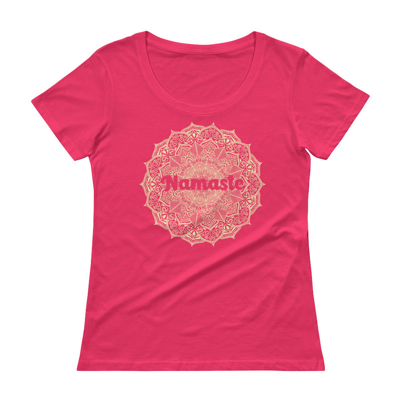 Namaste - Women's Scoop Neck Tee - StarSeed Gear