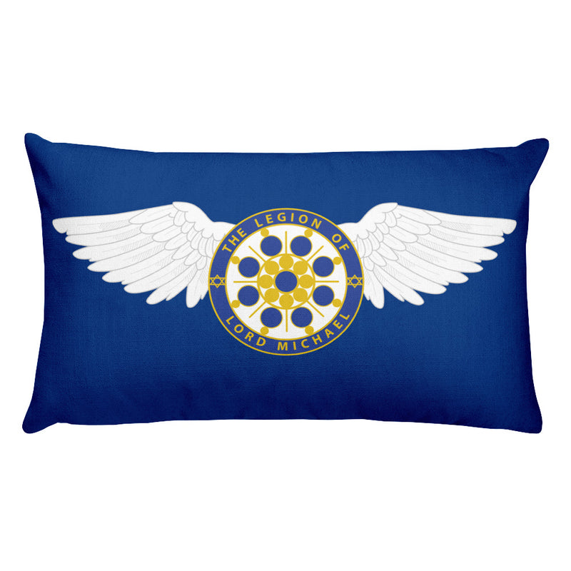Archangel Michael Seal With Wings - Premium Pillow - StarSeed Gear