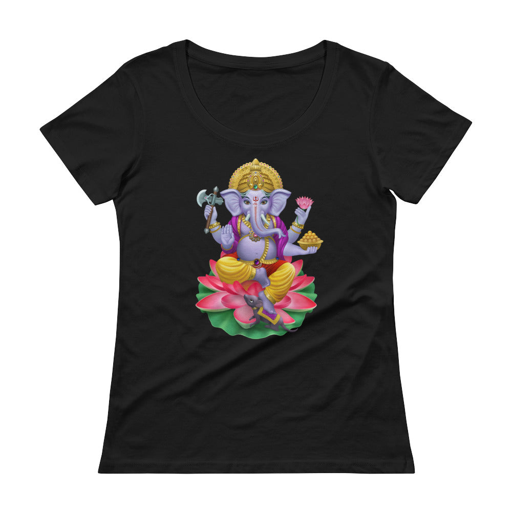 Ganapataye - Women's Scoop Neck Tee - StarSeed Gear