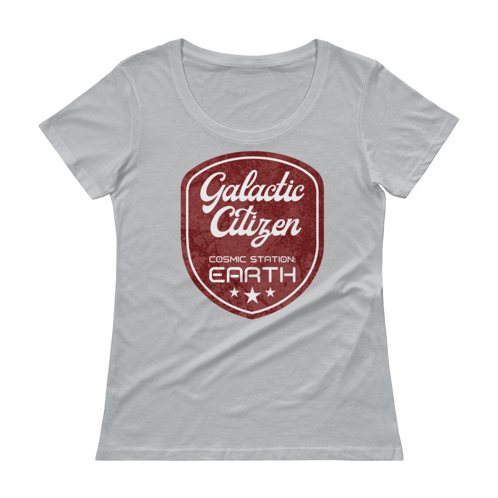 Galactic citizen - Women's Scoop Neck Tee - StarSeed Gear
