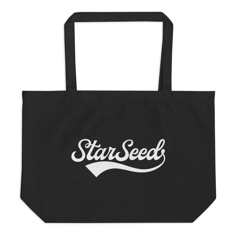 StarSeed Vintage White - Large Organic Twill Tote Bag - StarSeed Gear