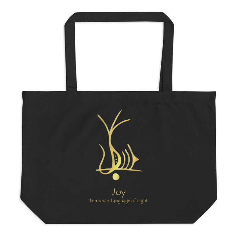 Lemurian Light Language Joy - Large Organic Twill Tote Bag - StarSeed Gear