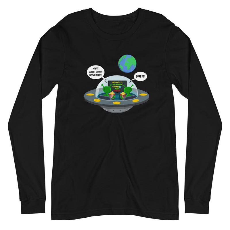 Earth Reality TV - Women's Soft Long Sleeve Tee - StarSeed Gear