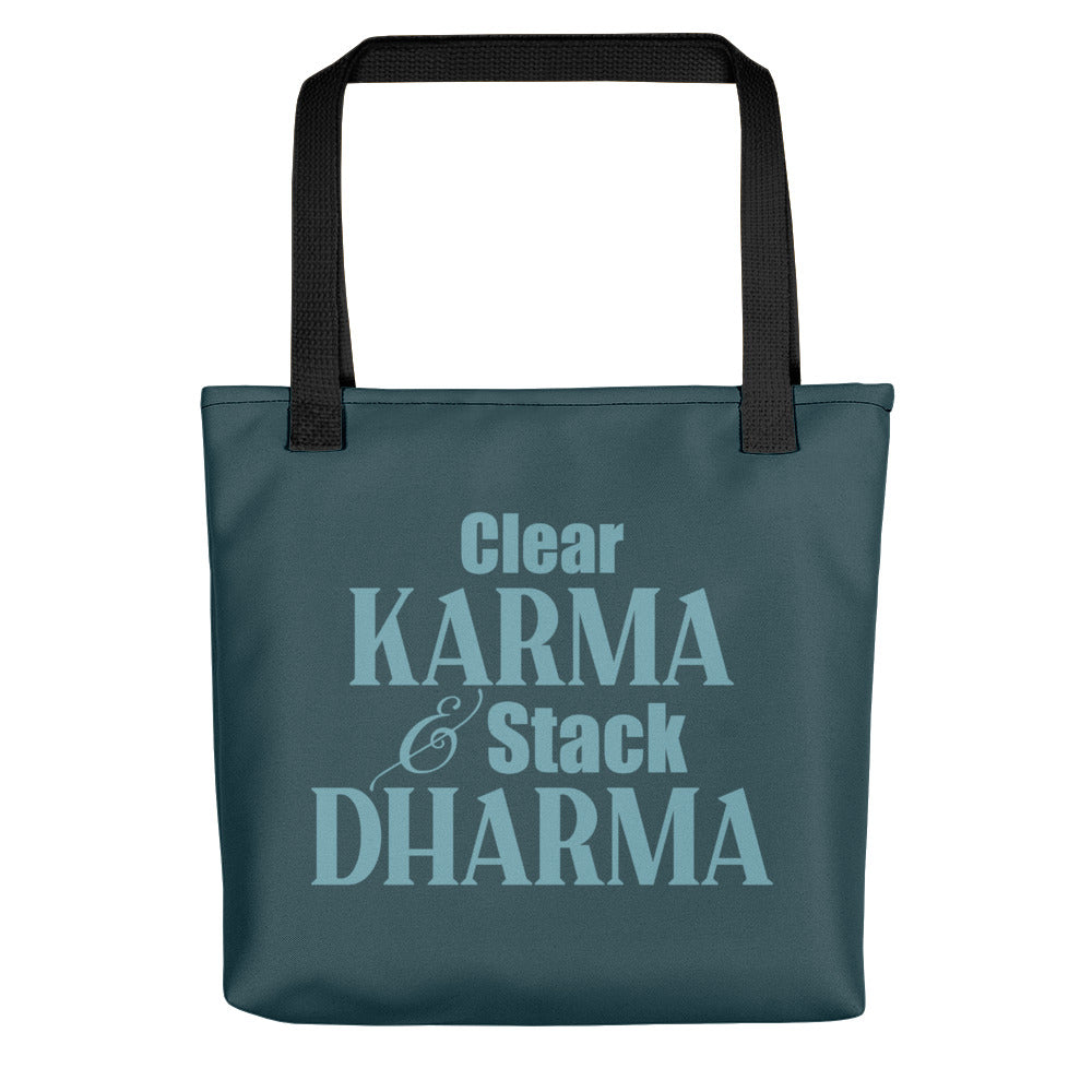 Clear Karma Stack Dharma - Tote Bag - StarSeed Gear