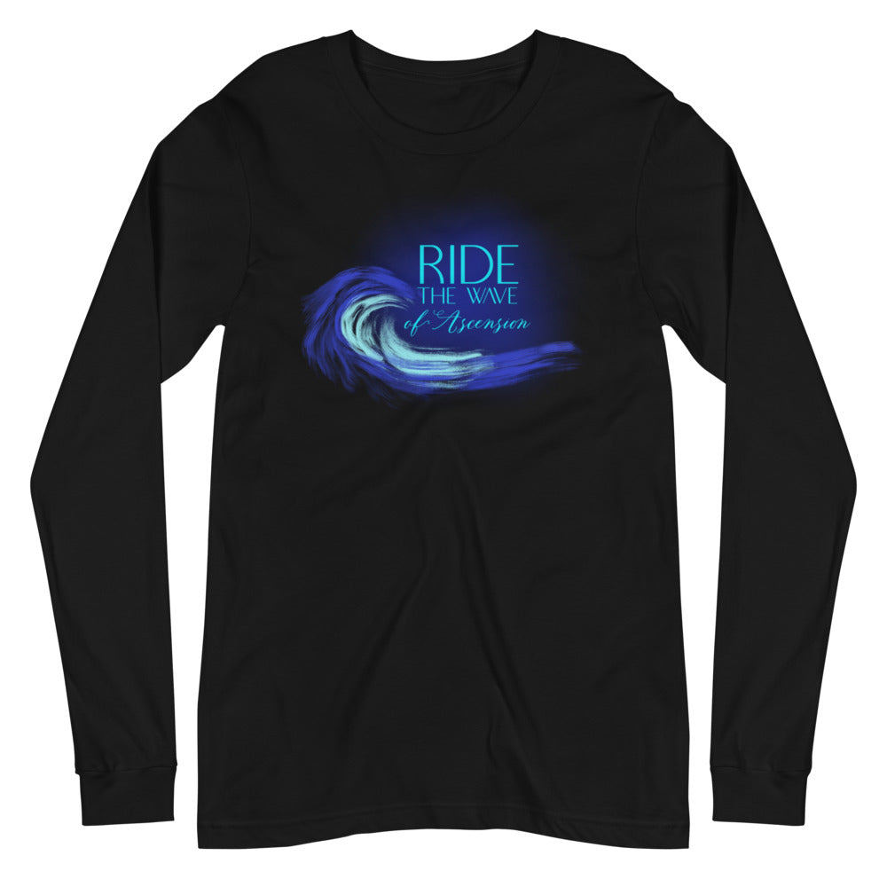 Ride The Wave - Women's Soft Long Sleeve Tee - StarSeed Gear
