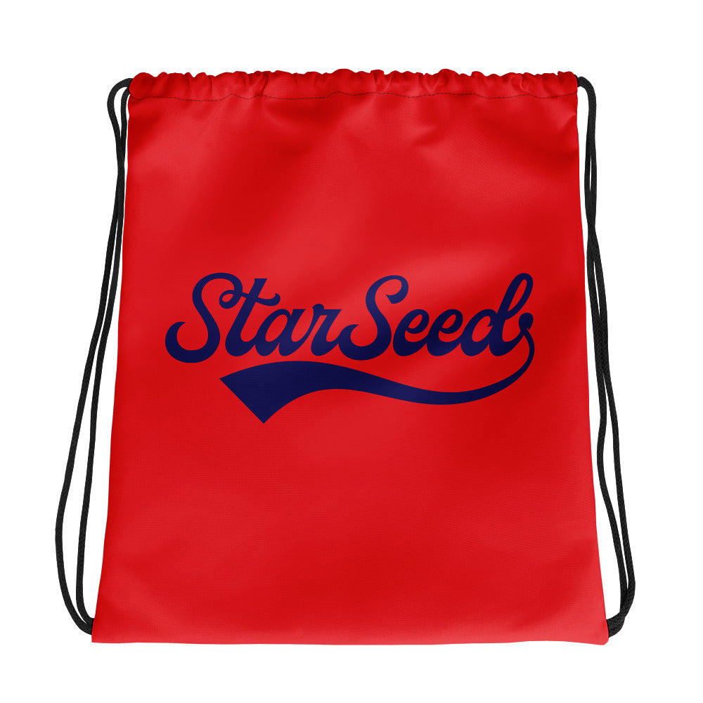 StarSeed Vintage Red-Navy - Drawstring Bag - StarSeed Gear