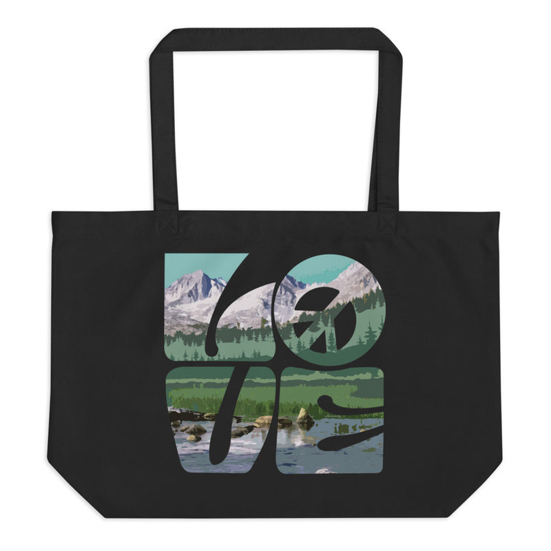 Love Gaia - Large Organic Twill Tote Bag - StarSeed Gear