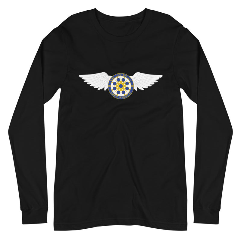 Archangel Michael Seal With Wings - Women's Soft Long Sleeve Tee - StarSeed Gear