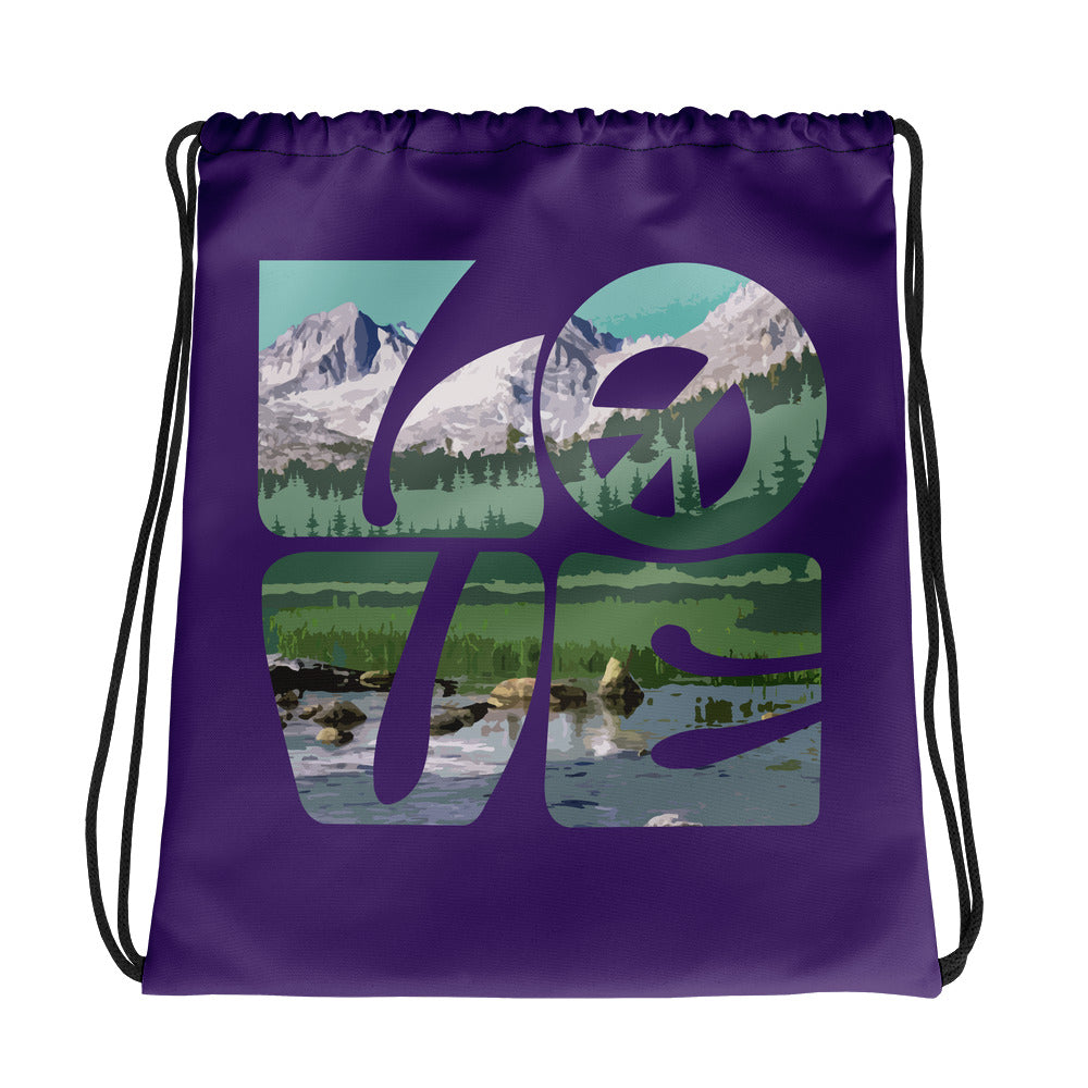 Love Gaia - Drawstring Bag - StarSeed Gear