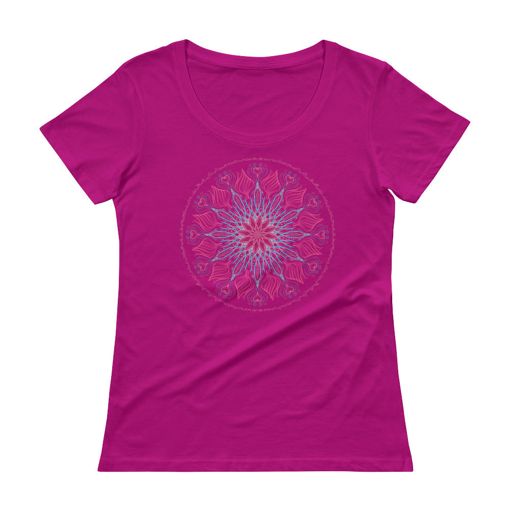 Galactic Rose Bouquet - Women's Scoop Neck Tee - StarSeed Gear