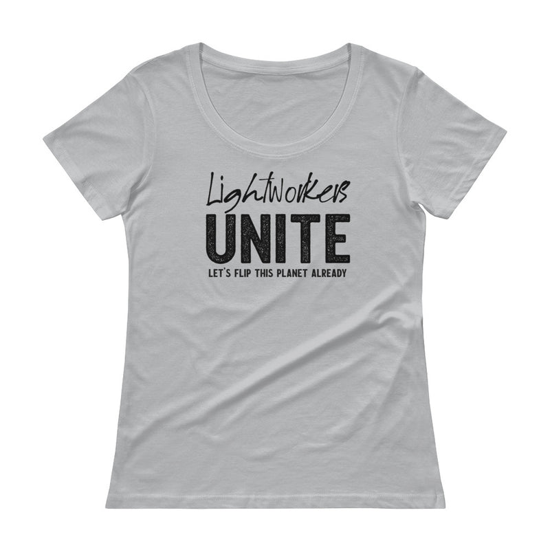 Lightworkers Unite - Women's Scoop Neck Tee - StarSeed Gear