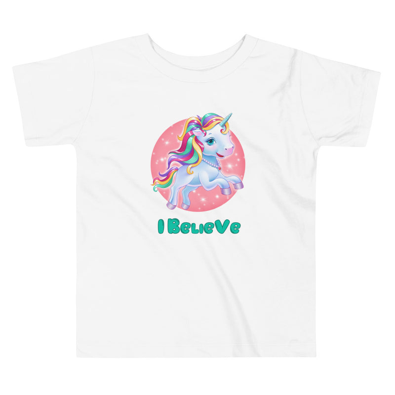 Unicorns I Believe - Toddler Tee - StarSeed Gear