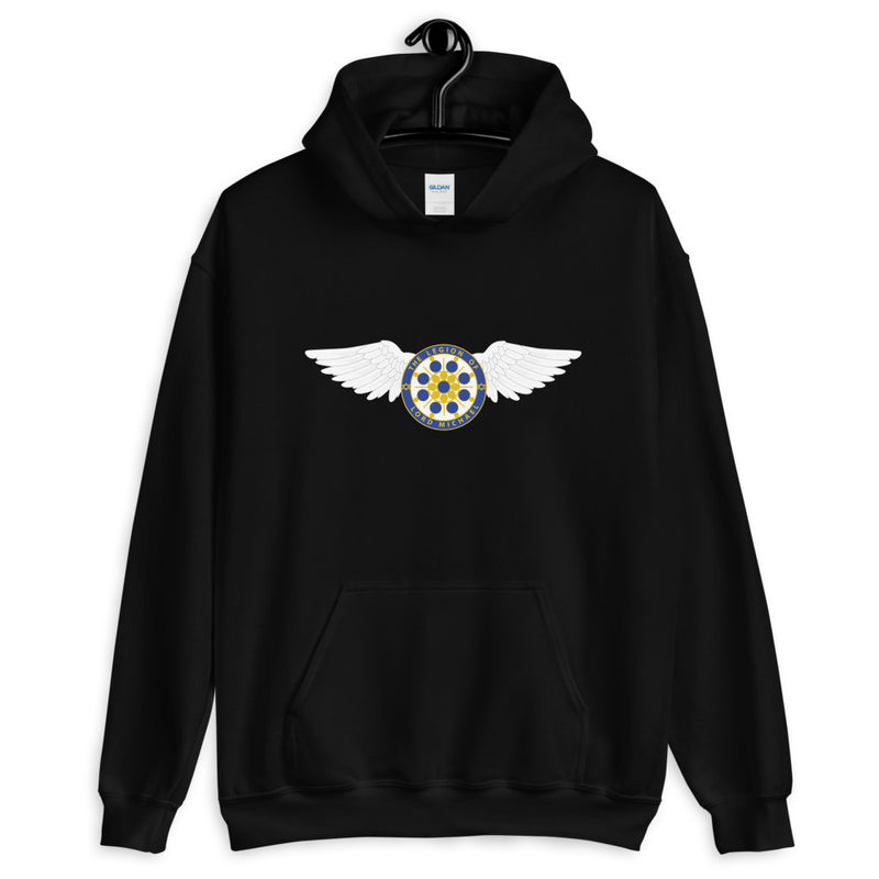 Archangel Michael Seal With Wings - Men's Hoodie - StarSeed Gear