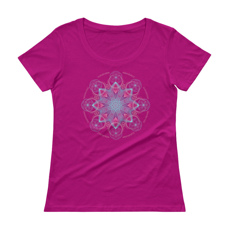 Cosmic Consciousness Expansion - Women's Scoop Neck Tee - StarSeed Gear