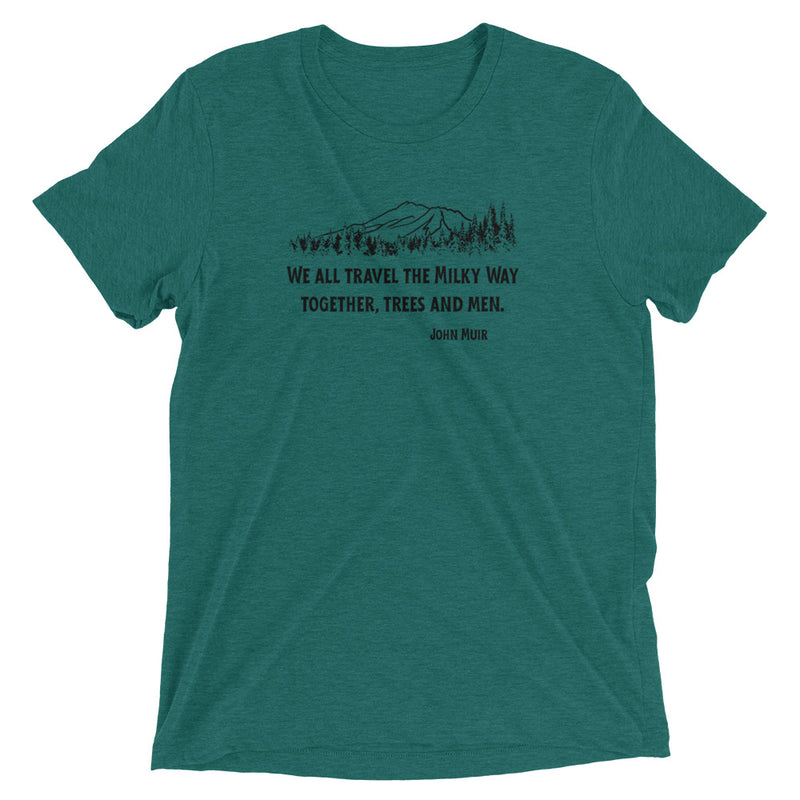 Traveling The Milky Way Together John Muir - Men's Super Soft Tee - StarSeed Gear