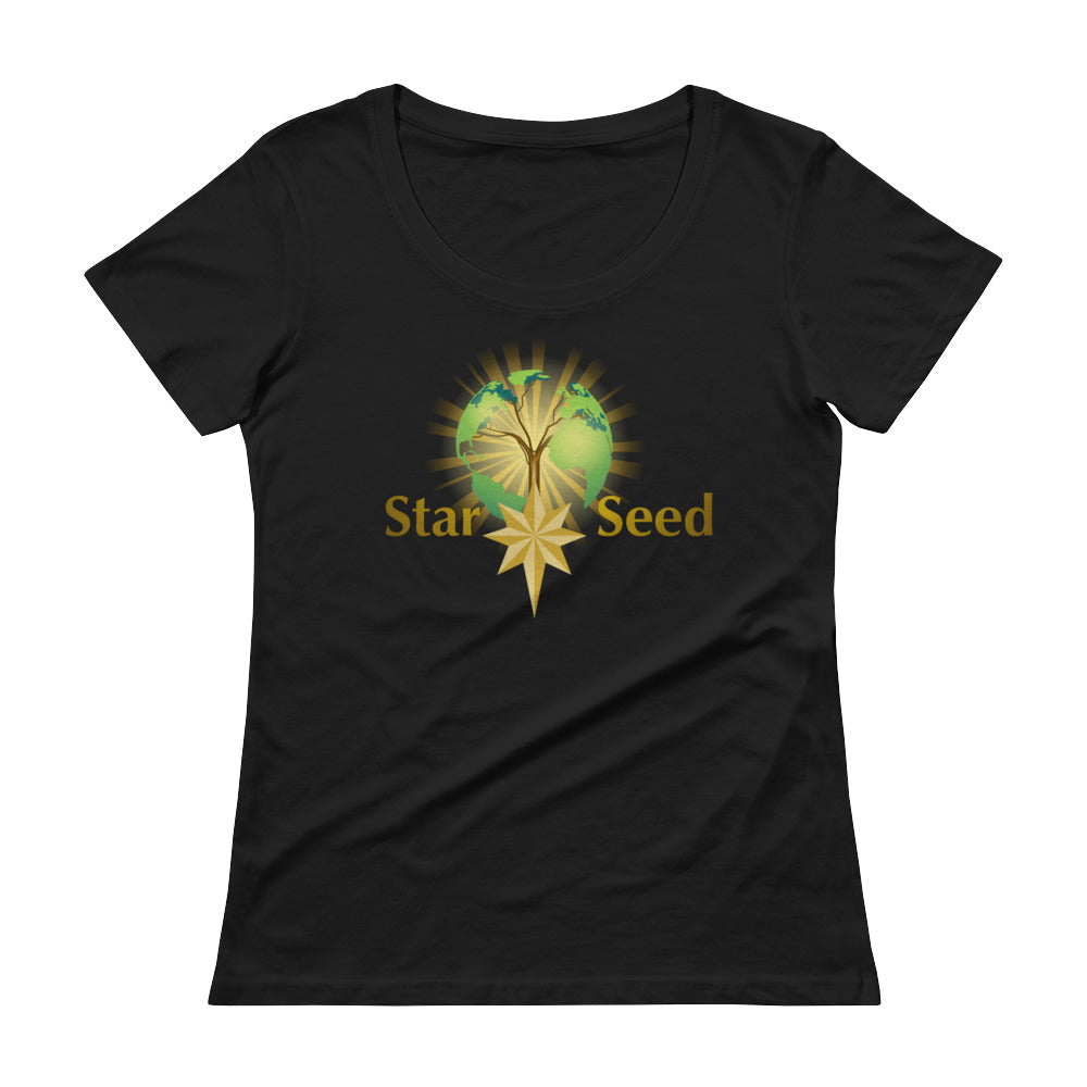 StarSeed Logo - Women's Scoop Neck Tee - StarSeed Gear