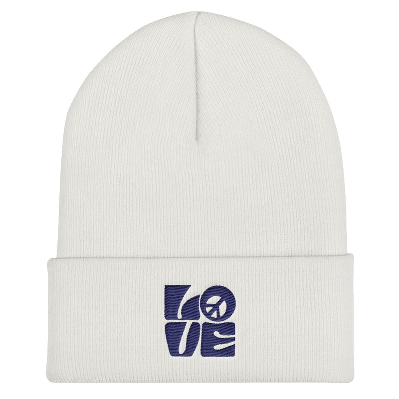 Love-Peace Navy Beanie - StarSeed Gear