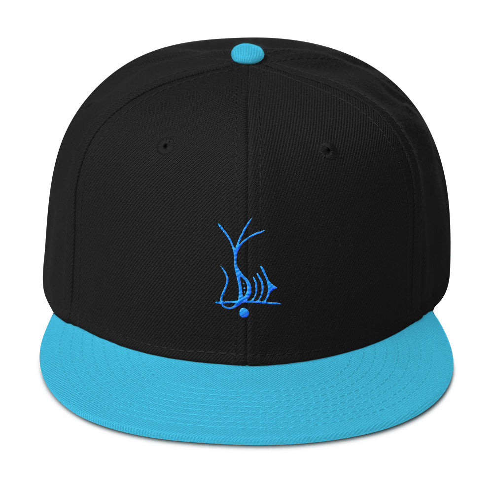 Lemurian Light Language Joy Aqua - Snapback Hat - StarSeed Gear