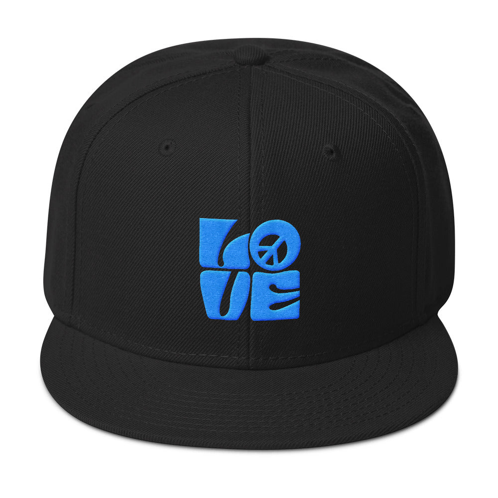 Love Peace Aqua - Snapback Hat - StarSeed Gear
