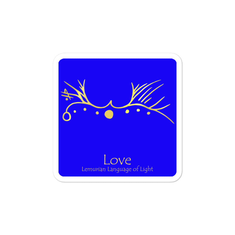 Lemurian Light Language Love Blue - 3 X 3 inch Bubble-Free Sticker - StarSeed Gear