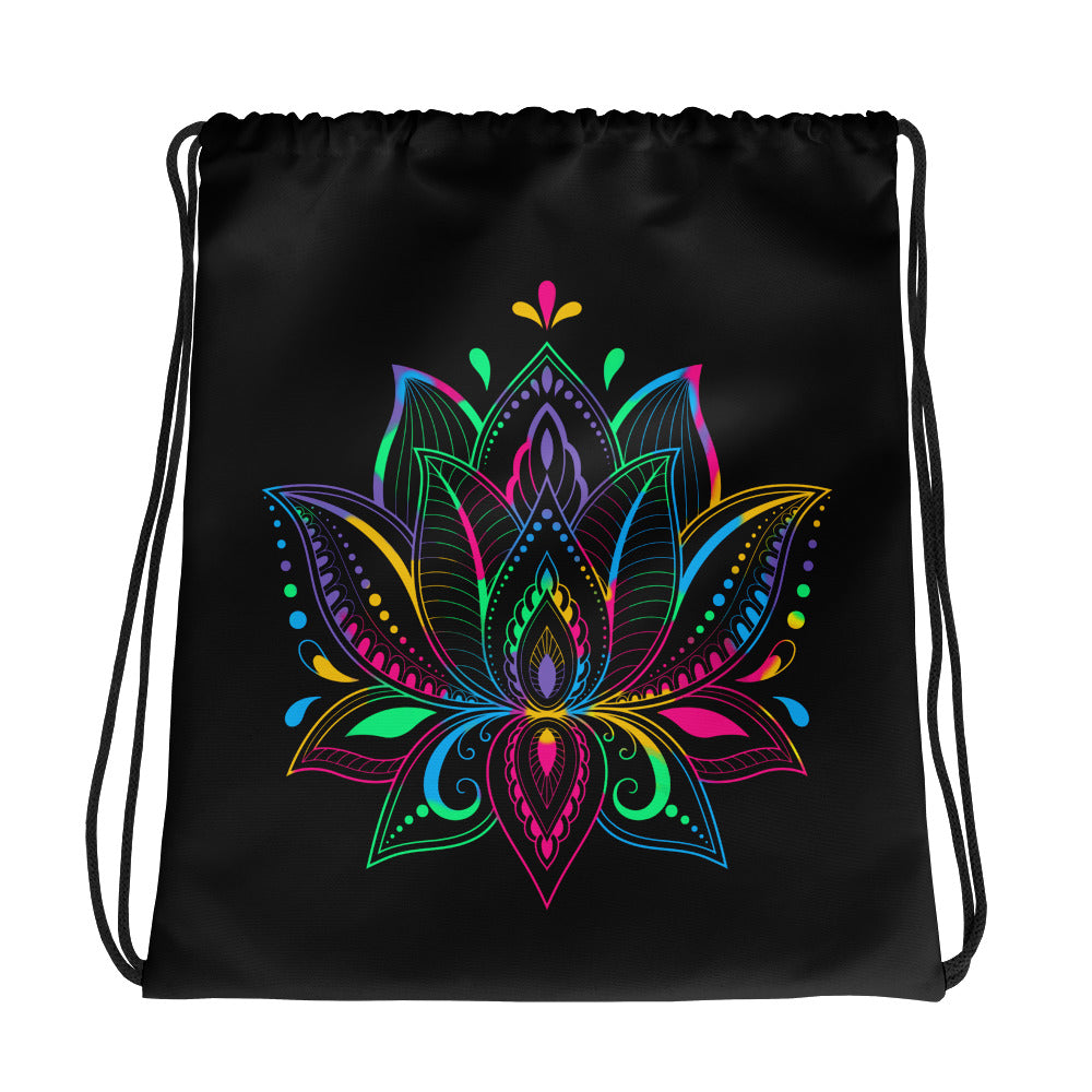 Colorful Lotus - Drawstring Bag - StarSeed Gear