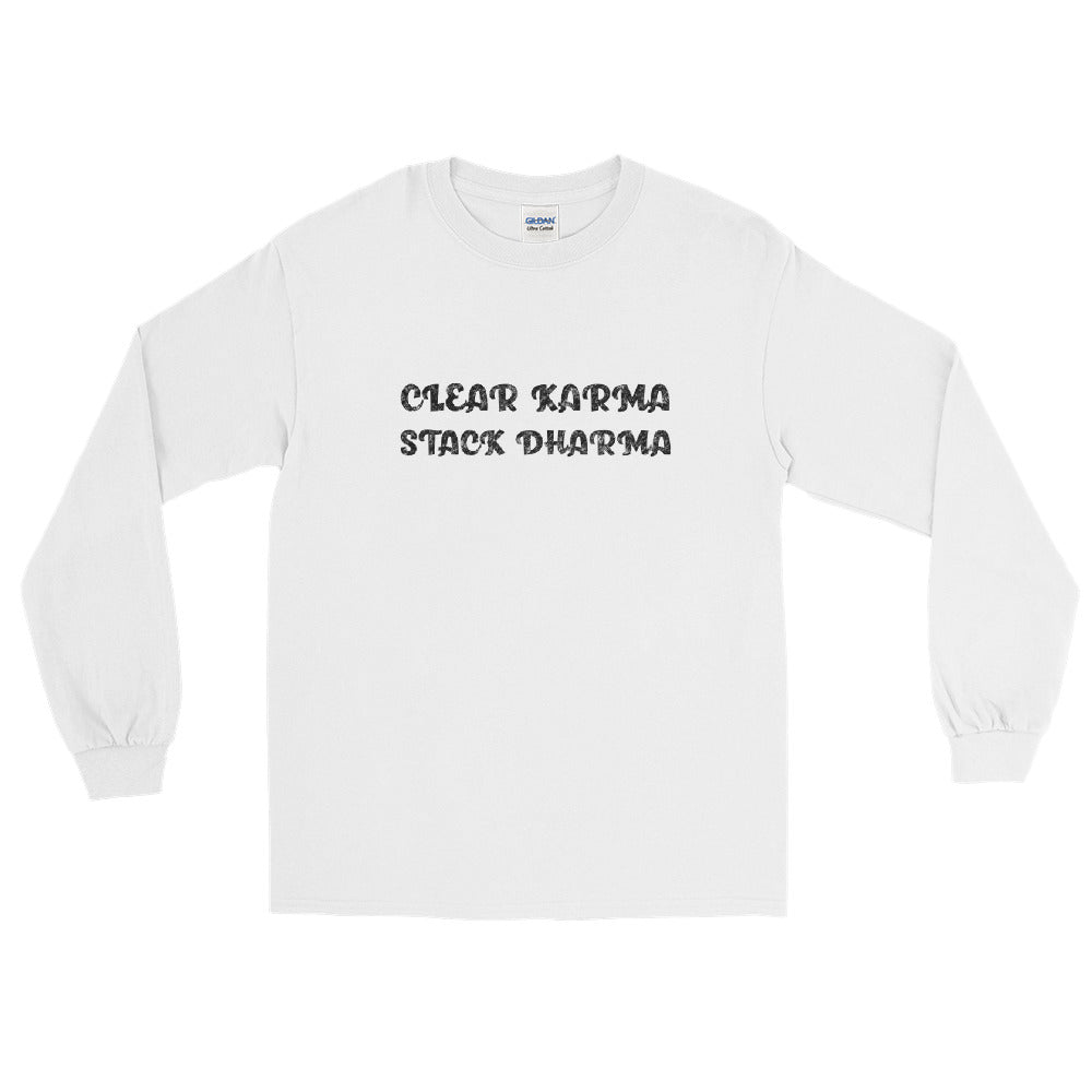 Clear Karma Stack Dharma - Men's Classic Long Sleeve Tee - StarSeed Gear