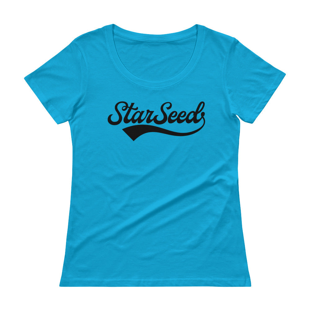 StarSeed Vintage Black - Women's Scoop Neck Tee - StarSeed Gear