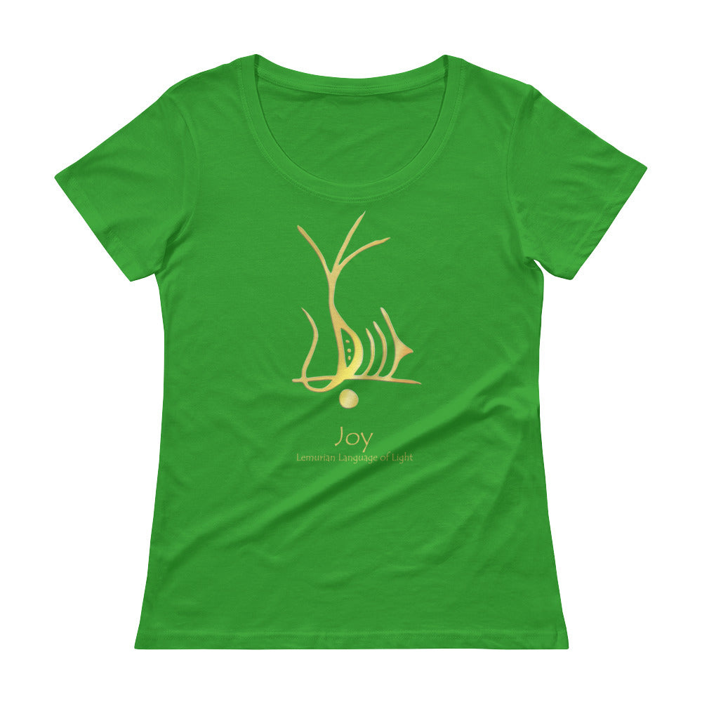 Lemurian Light Language Joy - Women's Scoop Neck Tee - StarSeed Gear