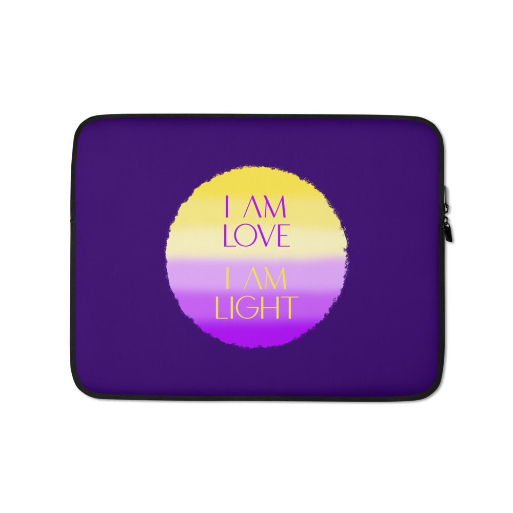 I Am Love I Am Light - Laptop Sleeve - StarSeed Gear