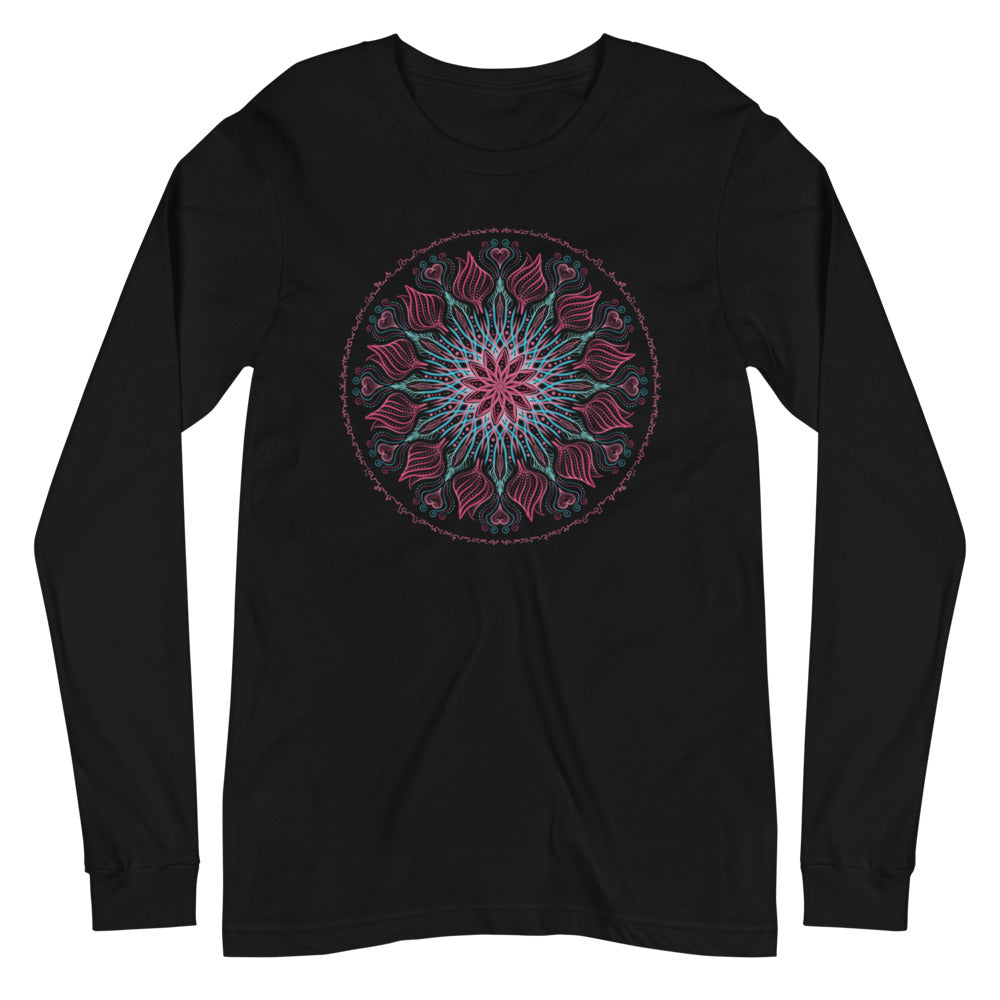 Galactic Rose Bouquet - Women's Soft Long Sleeve Tee - StarSeed Gear
