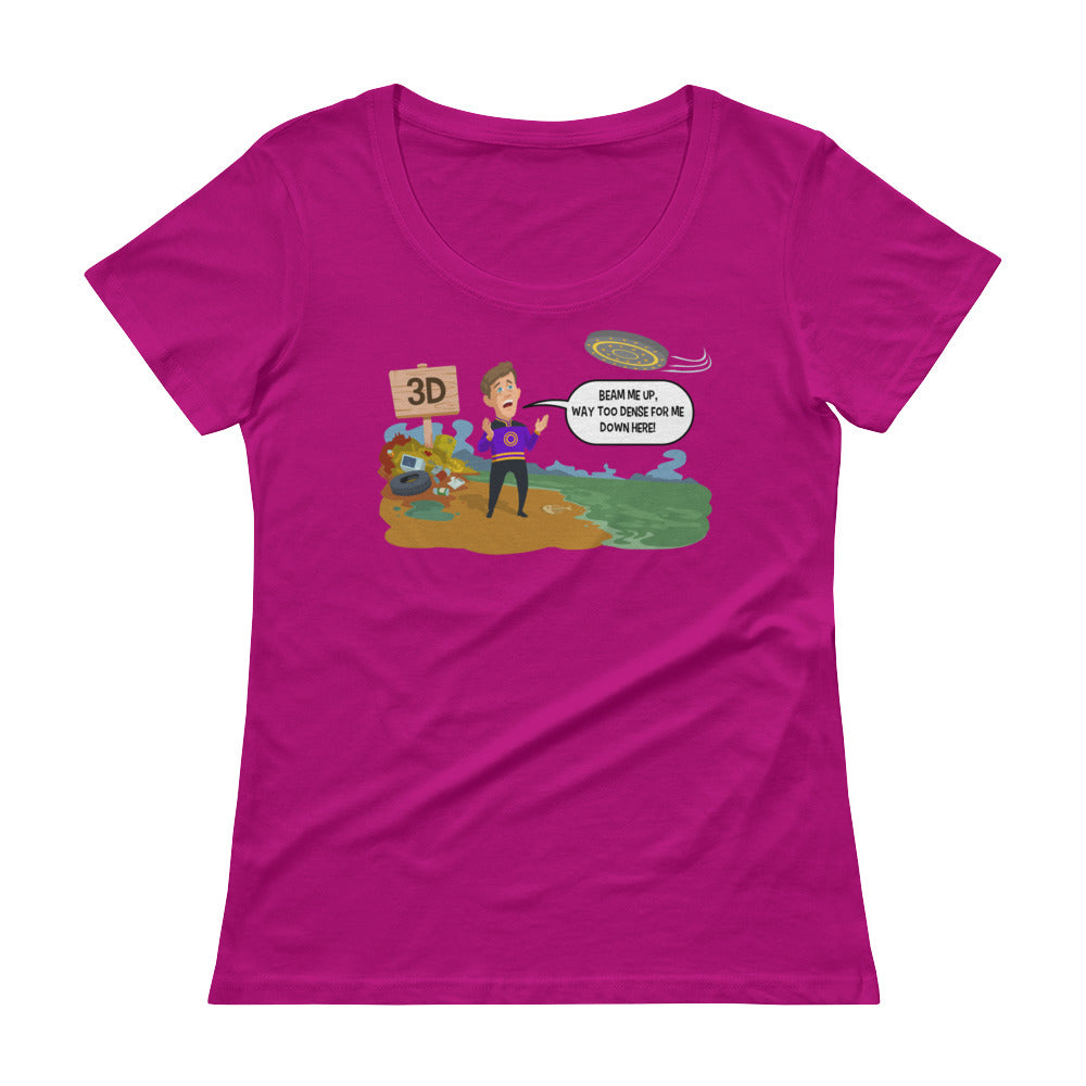 Beam Me Up - Women's Scoop Neck Tee - StarSeed Gear