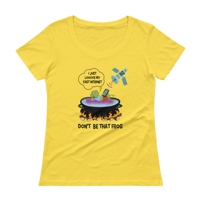 Don't Be That Frog - Women's Scoop Neck Tee - StarSeed Gear