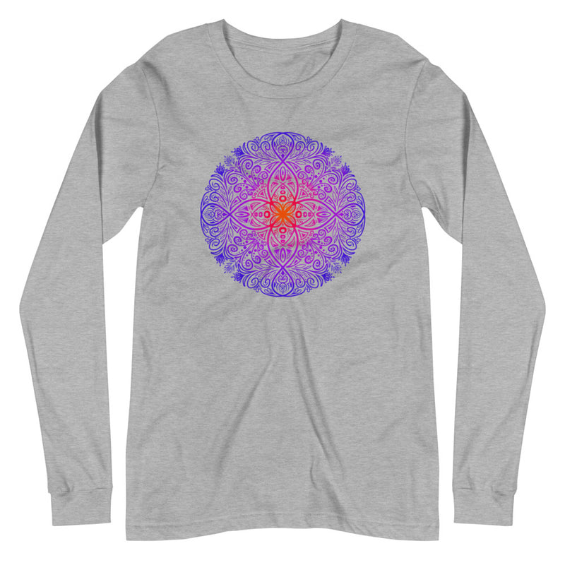 Mandala Flow - Women's Soft Long Sleeve Tee - StarSeed Gear