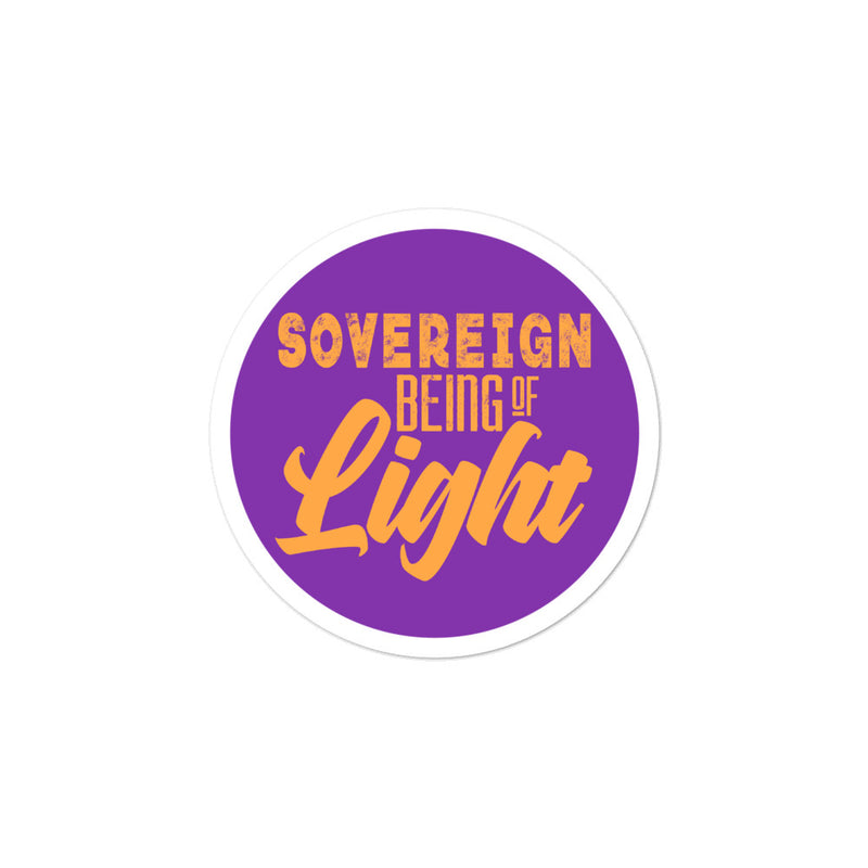Sovereign Being Of Light - 3x3 and 5.5x5.5inch Bubble-Free Sticker - StarSeed Gear