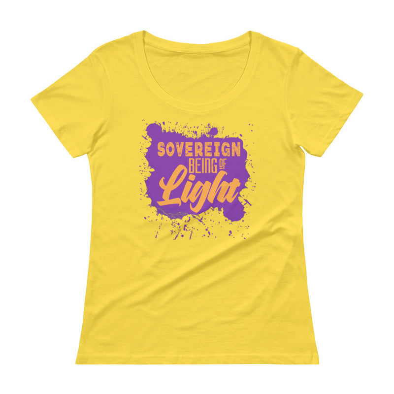 Sovereign Being of Light - Women's Scoop Neck Tee - StarSeed Gear