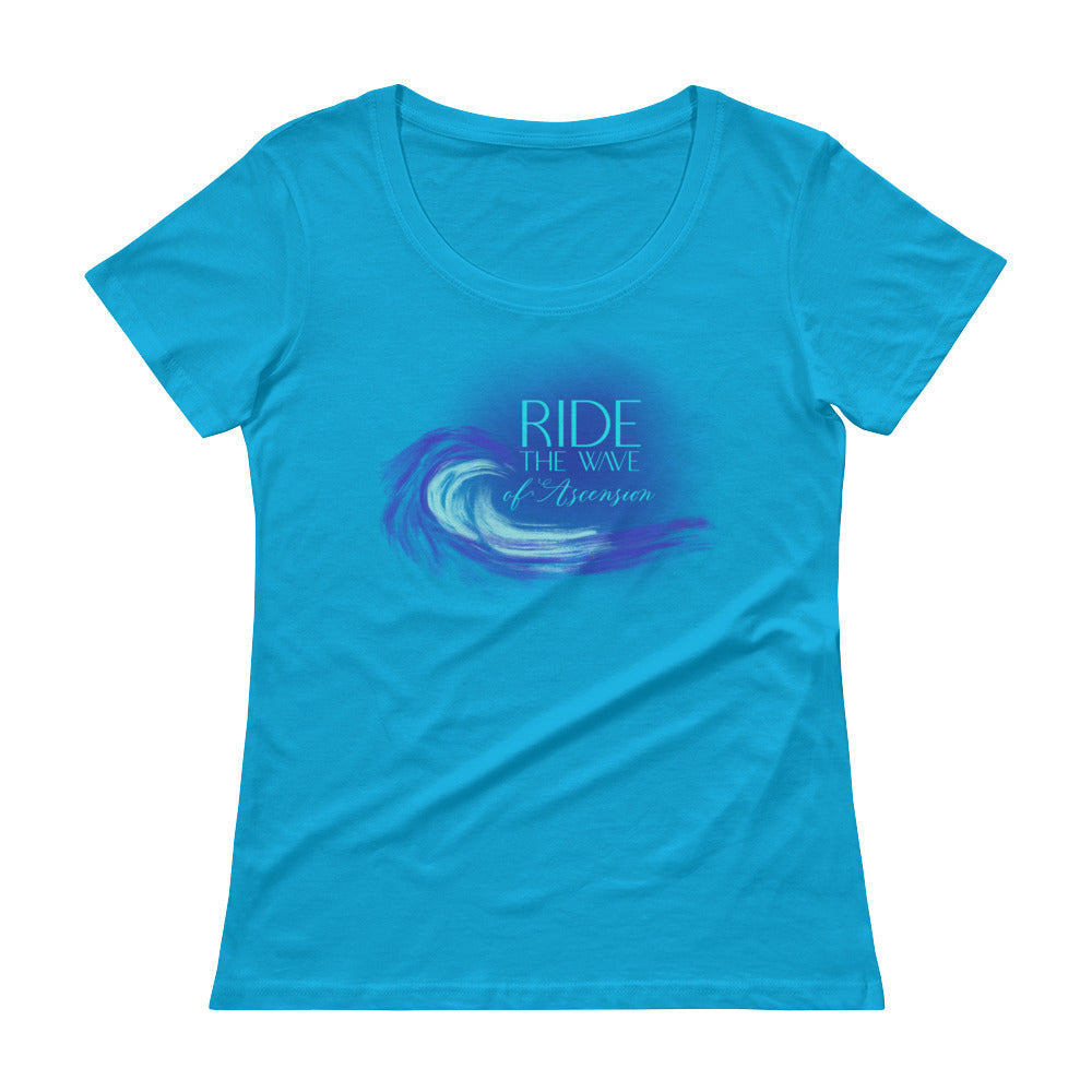 Ride The Wave - Women's Scoop Neck Tee - StarSeed Gear