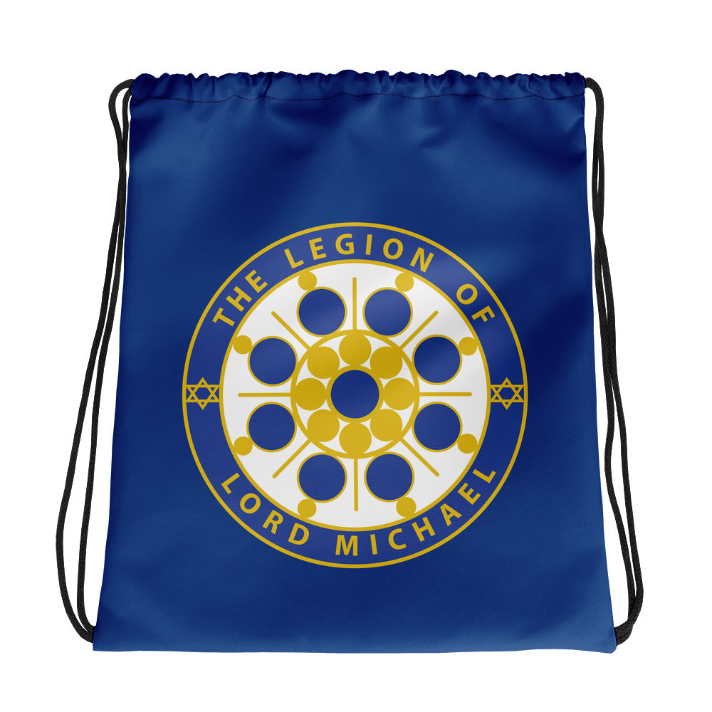 Archangel Michael Seal Royal Blue - Drawstring Bag - StarSeed Gear