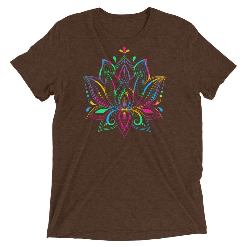 Colorful Lotus - Men's Super Soft Tee - StarSeed Gear