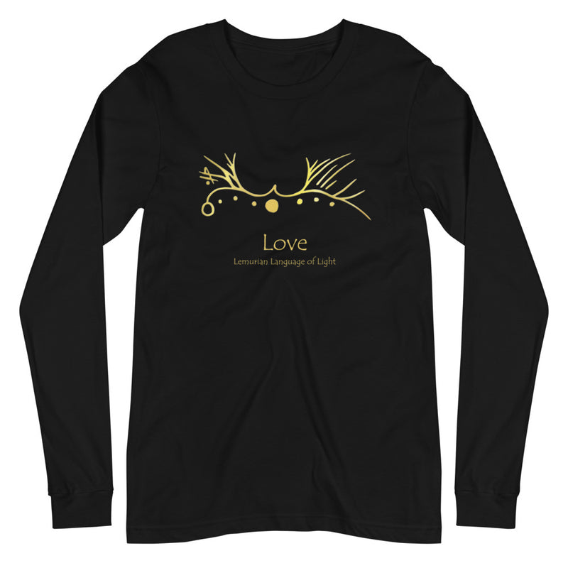 Lemurian Light Language Love - Women's Soft Long Sleeve Tee - StarSeed Gear