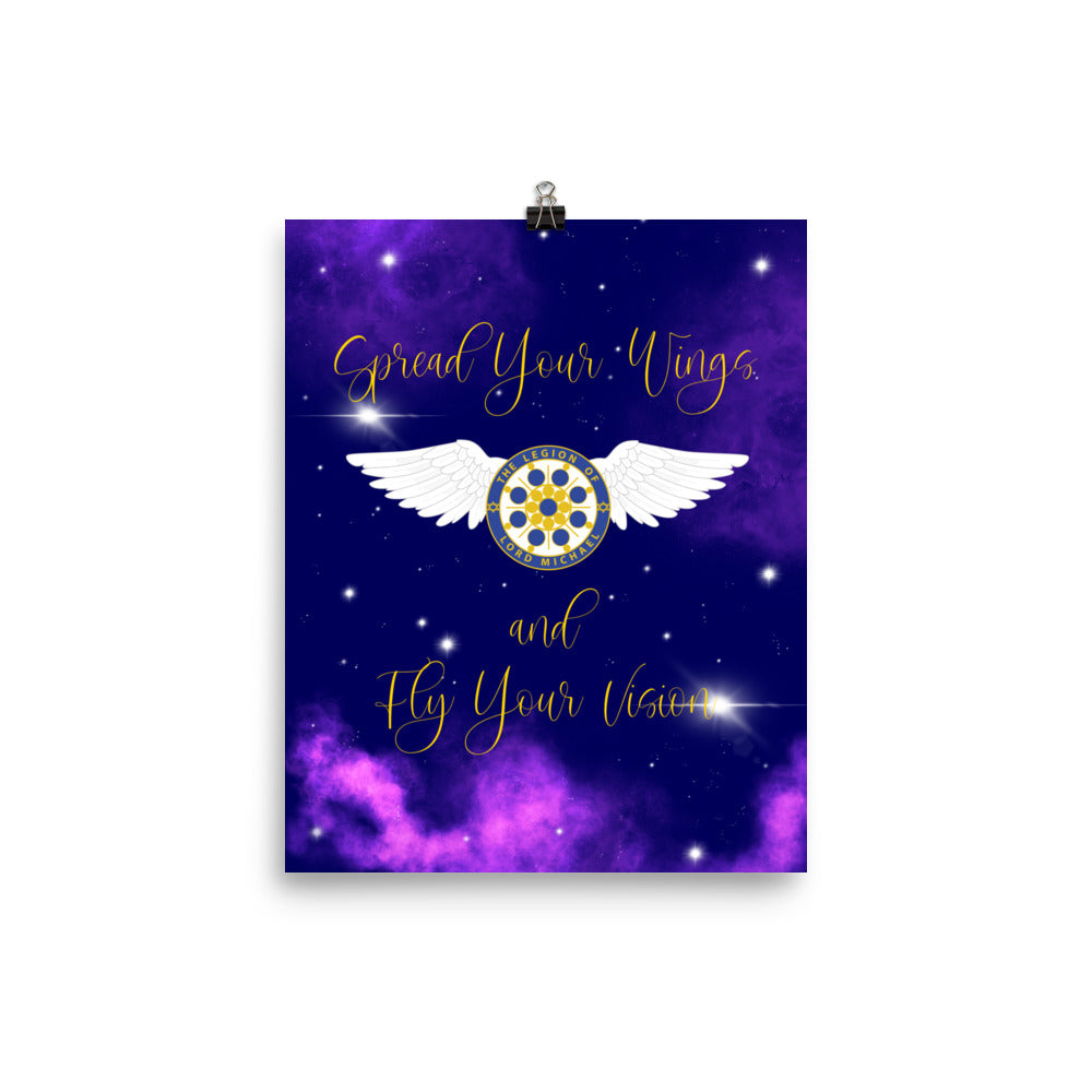 Archangel Michael Fly Your Vision - Enhanced Matte Poster 8x10 - StarSeed Gear