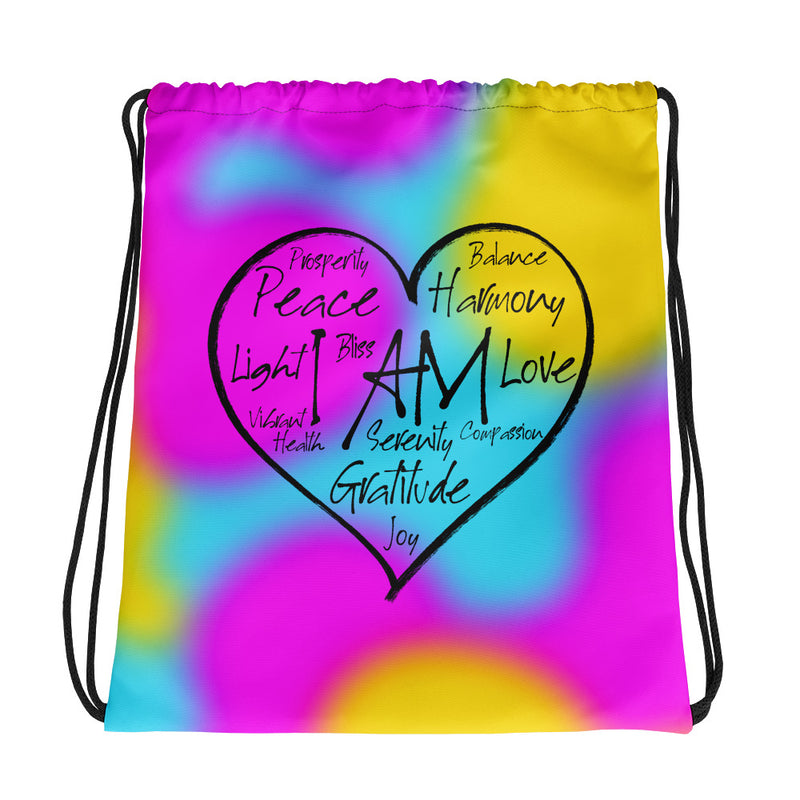 I AM Heart - Drawstring Bag - StarSeed Gear